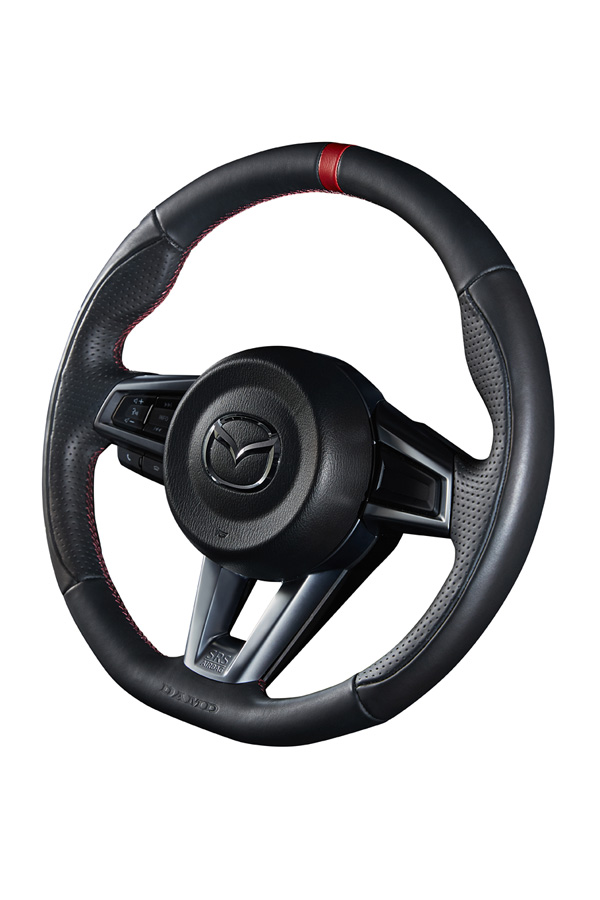 DAMD STEERING WHEEL For IMPREZA GD GG E ~ G 04 6 ~ SS358 DF Blue Stitch